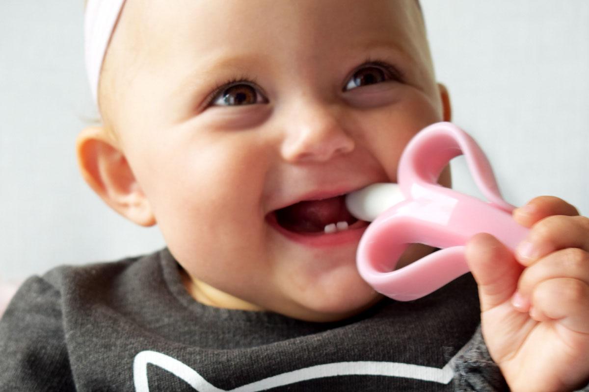 Beiß-Banane für zahnende babys