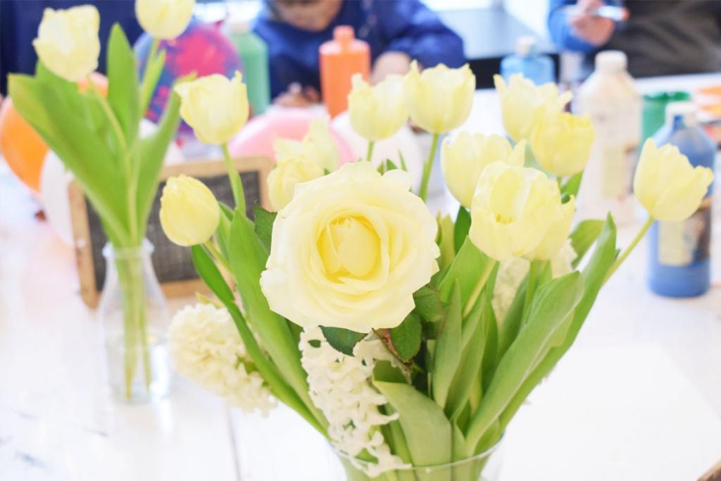 Kinderkunsthaus München Schwabing - Kreativwerkstatt - Ausflüge mit Kind - Blumen - malen basteln diy - Mama Blog München