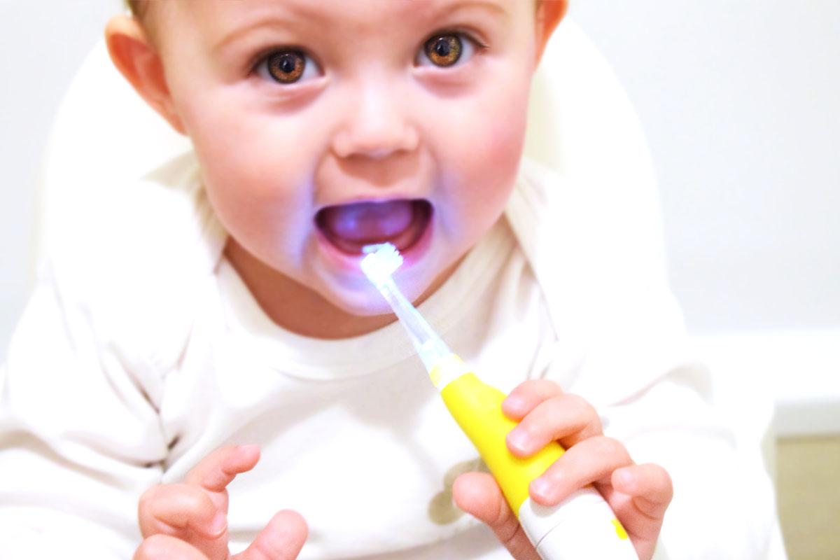SEAGO Säugling Zahnbürsten Sonic elektrische zahnbürste mit LED Lampe-Zahnbürste für Baby-Kind-Mama Blog München