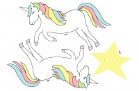 Einhorn Freebies Kindergeburtstag zum Downloaden und Ausdrucken