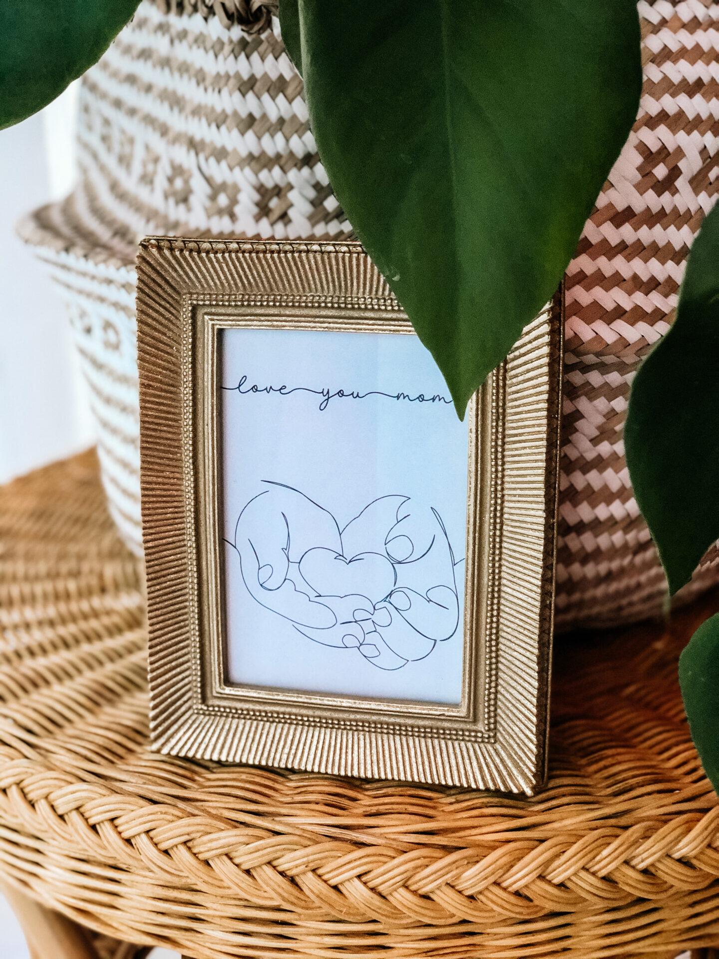 Stilvolles Muttertagsgeschenk zum selbst Ausdrucken - Kostenlose Vorlage - Freebie